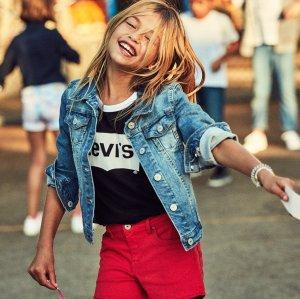 logo T恤$5.24  牛仔裤$9.73起Levi's官网 儿童服饰促销区满$100享额外7.5折