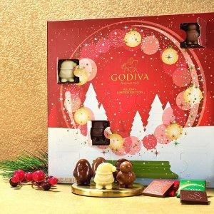 低至5折+额外9.5折折扣升级:GODIVA官网 黑五大促 收精致圣诞日历、节日礼盒