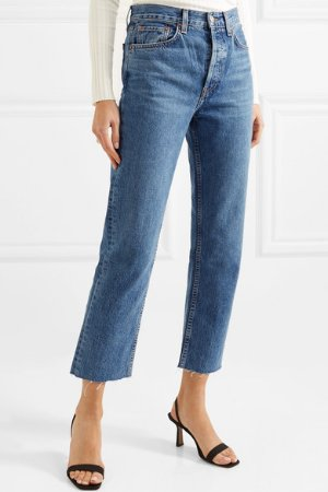 RE/DONE | Originals Stovepipe high-rise straight-leg jeans | NET-A-PORTER.COM
