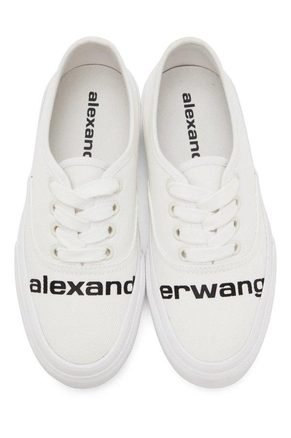 白色 Dropout Logo运动鞋