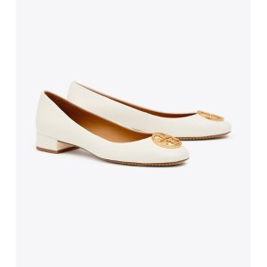 Tory Burch低至5折白色logo高跟鞋