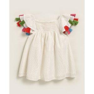 (Newborn/Infant Girls) Sundancer Metallic Stripe Dress