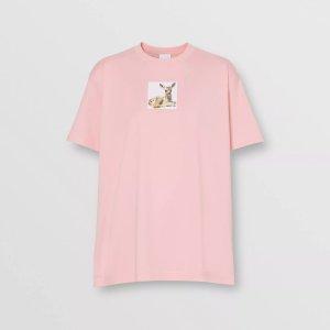 Burberry粉色T恤