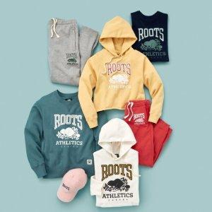 低至6折+额外8折+免邮 $20收棉TeeRoots 加拿大国民品牌 男士专区限时折上折 $48收卫衣