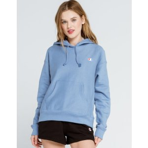 Champion$15 off $75Reverse Weave Embroidered Womens Sky Blue Hoodie