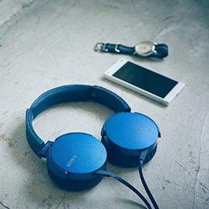 $29.99(原价$79.99)Sony索尼 MDRXB550AP 重低音头戴式耳机 (3色可选)
