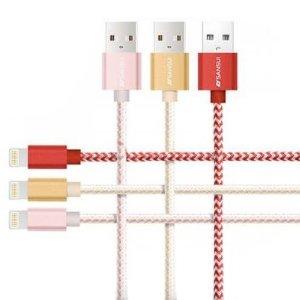 $8.47(原价$46)+免邮白菜价:苹果手机 Lighting 接口充电线/数据线 物美价廉 3根装