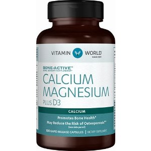满$75再享额外8折Vitamin World 钙+维生素D3 100片