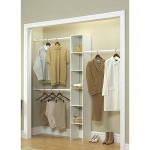 ClosetMaid 白色衣柜收纳架,适用于4 ft.~9ft宽