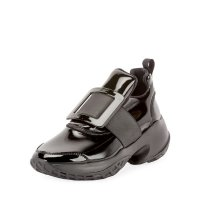 Roger Vivier Viv' Run Lacquered 方扣运动鞋