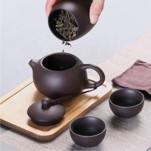6件套仅€27.99 茶杯+茶壶+茶叶罐JEEZAO 旅行装茶具套装 忙里偷闲 随时随地享受一杯功夫茶