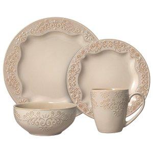 PfaltzgraffClarissa Cream 16 Piece Dinnerware Set, Service for 4
