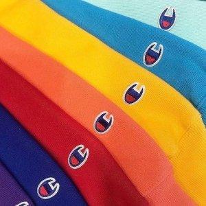 低至7折+额外6.5折 超多配色手慢无:Champion 平价潮流服饰折上折 $20起收百搭Logo T恤