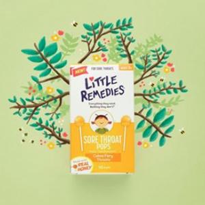 低至$2.9+包邮Little Remedies 婴幼儿明星产品热卖 收天然蜂蜜润喉糖