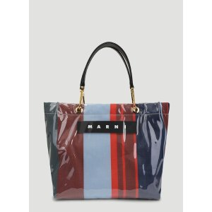 MarniLacquer Medium Shopping Bag in Blue