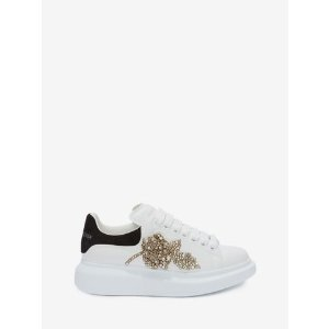 Women's White/Black Oversized Sneaker | Alexander McQueen