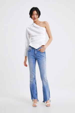 ZW PREMIUM SKINNY FLARE JEANS IN SUNRISE BLUE - View All-JEANS-WOMAN | ZARA United States