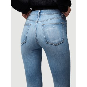 Frame DenimLe High Straight Blindstitch Hem -- Withers