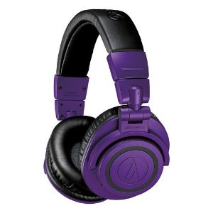 Audio-TechnicaATH-M50xBT Wireless Over-Ear Headphones with Built-In Remote and Microphone (Purple and Black)