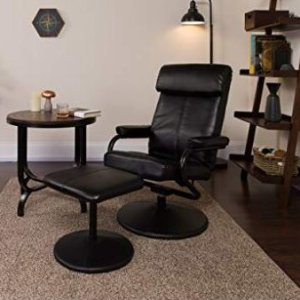$151.9(原价$289.99)Flash Furniture旋转躺椅带搭脚凳