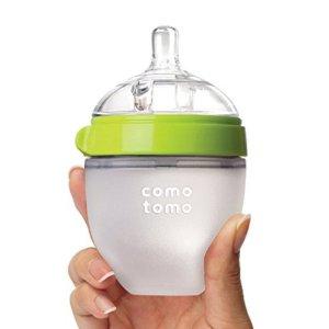 奶瓶低至$12.99Comotomo 防胀气硅胶奶瓶特卖,妈妈乳感更安心