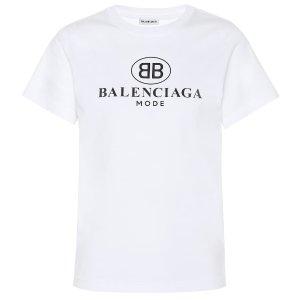 Balenciaga品牌标志棉质T恤