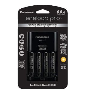 $29.98(原价$53)Panasonic Eneloop Pro 4节AA镍氢充电池+充电器套装