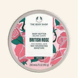 The Body Shop英国玫瑰身体乳