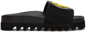 Joshua Sanders: Black Smile Slide Sandals | SSENSE