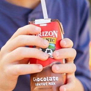12盒$11.38起 每盒$0.94Horizon Organic 低脂有机奶8oz,多口味可选