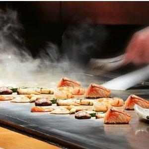 $99 (原价$198)  互动式服务体验Aya Teppanyaki 日式料理搭配10道铁板烧盛宴双人团购