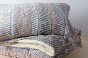 Organic Matelasse Feather Stripe Duvet Set | Allswell Home