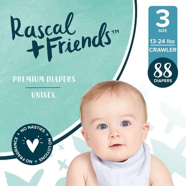 Rascal + Friends婴儿纸尿裤,各种尺寸