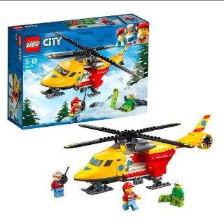 直邮好价¥222LEGO 乐高 City 城市系列 急救直升机 5-12岁