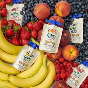 9.5折 $33.97 一袋仅$0.57GoGo squeeZ 酸奶 蓝莓+莓子口味 60袋装 亚马逊首选