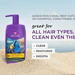 $4.74(原价$7.99) 给宝宝洗澡不再像打仗Aussie 袋鼠牌 儿童三合一洗发水护发沐浴露 778ml