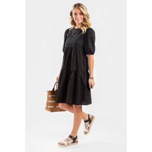 Francesca'sMina Babydoll Tiered Midi Dress