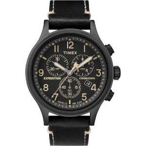 TimexExpedition Scout Chronograph 42mm Leather Watch | Timex
