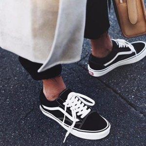 7.5折手慢无:Vans 永远不过时 黑白复古帆布鞋