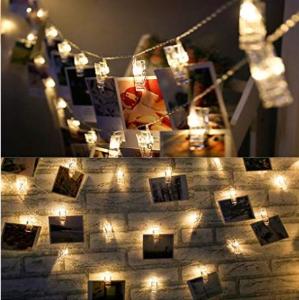 销量冠军$8.49(原价$16.99)Zhen Qi 浪漫 LED 照片灯串夹子4.8米