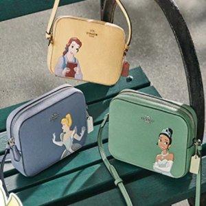 低至5折+额外8.5折+送口罩COACH Outlet X 迪士尼合作款上新 公主系列你心动了嘛