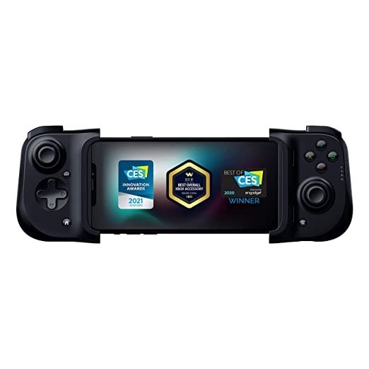 Razer Kishi Mobile Game Controller / Gamepad for iPhone iOS: Works with most iPhones – iPhone X, 11, 12 - Apple Arcade, Amazon Luna, Google Stadia - Lightning Port Passthrough - MFi Certified