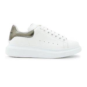 Alexander McQueen变相5折 HR定价$720灰珍珠尾小白鞋