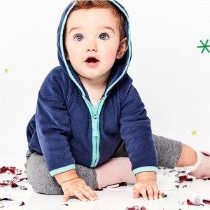再降 封面抓绒外套$3.59Carter's官网 儿童秋冬外套低至2.2折热卖