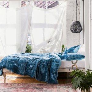 低至6折 $42收抓绒棉毯Urban Outfitters 床品家纺热卖 樱花床品、可爱地毯