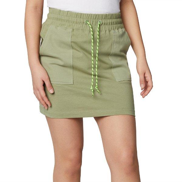短裙 牛油果绿