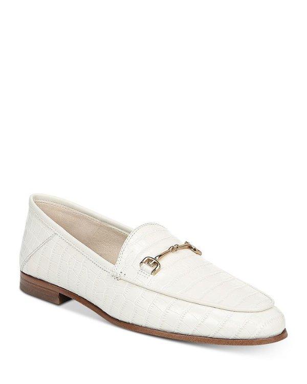 鳄鱼纹乐福鞋