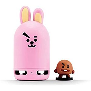Amazon.com: BT21 Official BTS Friends Duo Bluetooth Stereo Portable Speaker & Figure Set for Home, Outdoors, Travel (Speaker Cooky + Figure SHOOKY): Home Audio & Theater
