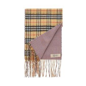 "Burberry需使用折扣码""MOON30X""紫色格纹双面围巾"