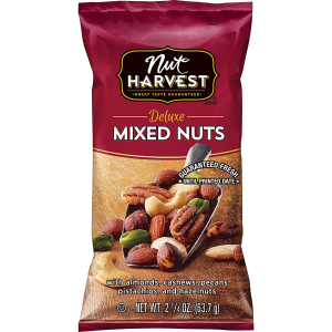 Up to $5 OffNut Harvest Mixed Nuts、Munchies Flamin' Hot Peanuts on Sale